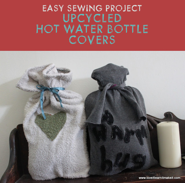 2 Easy Sew Hot Water Bottle Covers