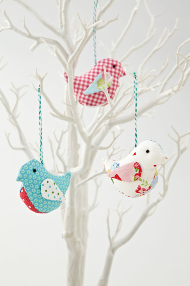 Fabric Birds, easy sewing projects
