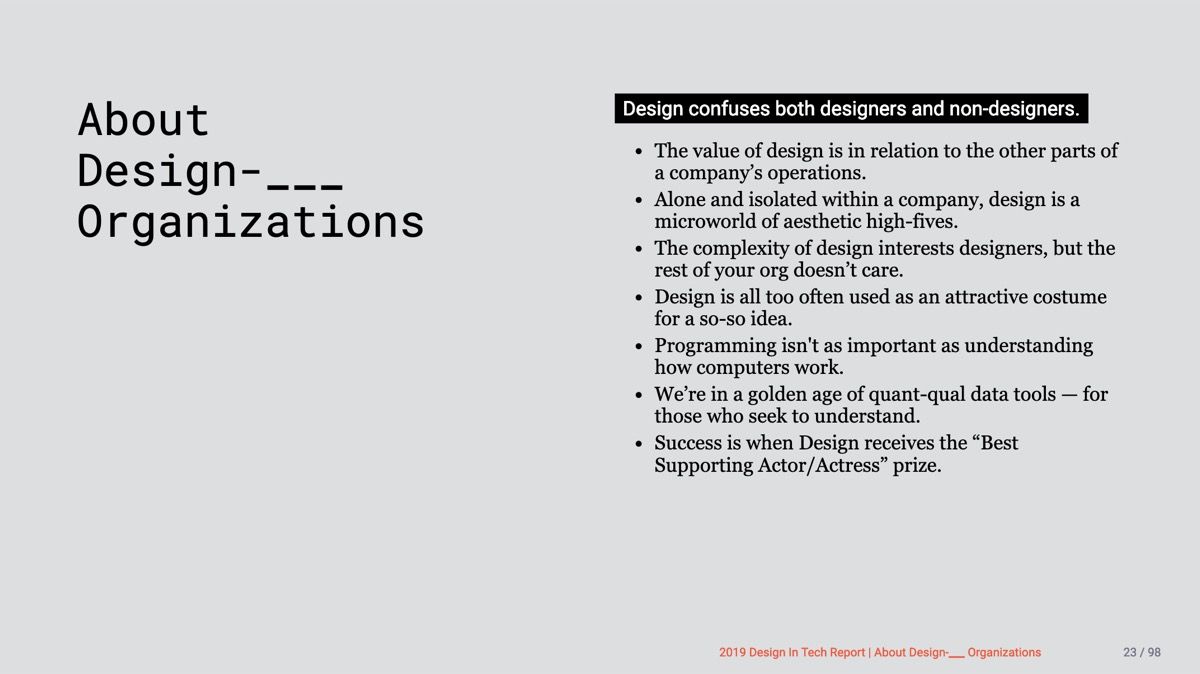 📱Design in Tech Report 2019 | Section 2 | About Design-___ Organizations
