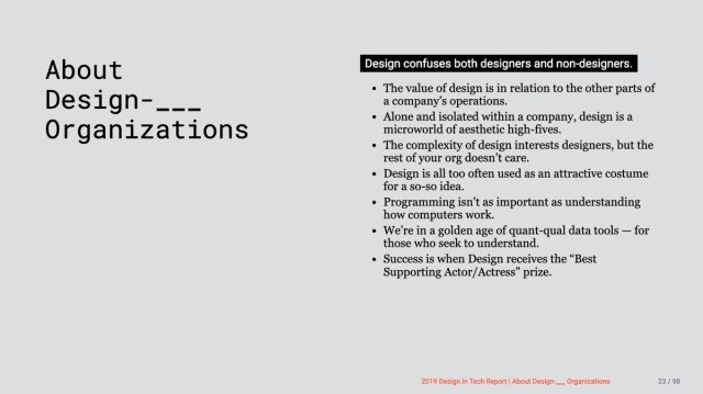 Design In Tech Report 2019 Section 2 About Design Organizations John Maeda Design In Tech Report