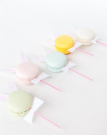 DIY Easter projects macaron bunnies