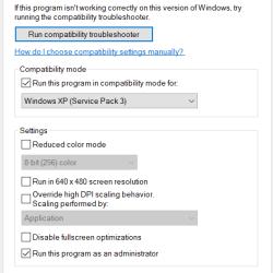 Run Compatibility Mode