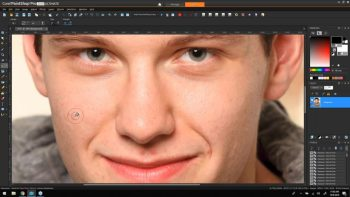 retouching people in painting shop pro