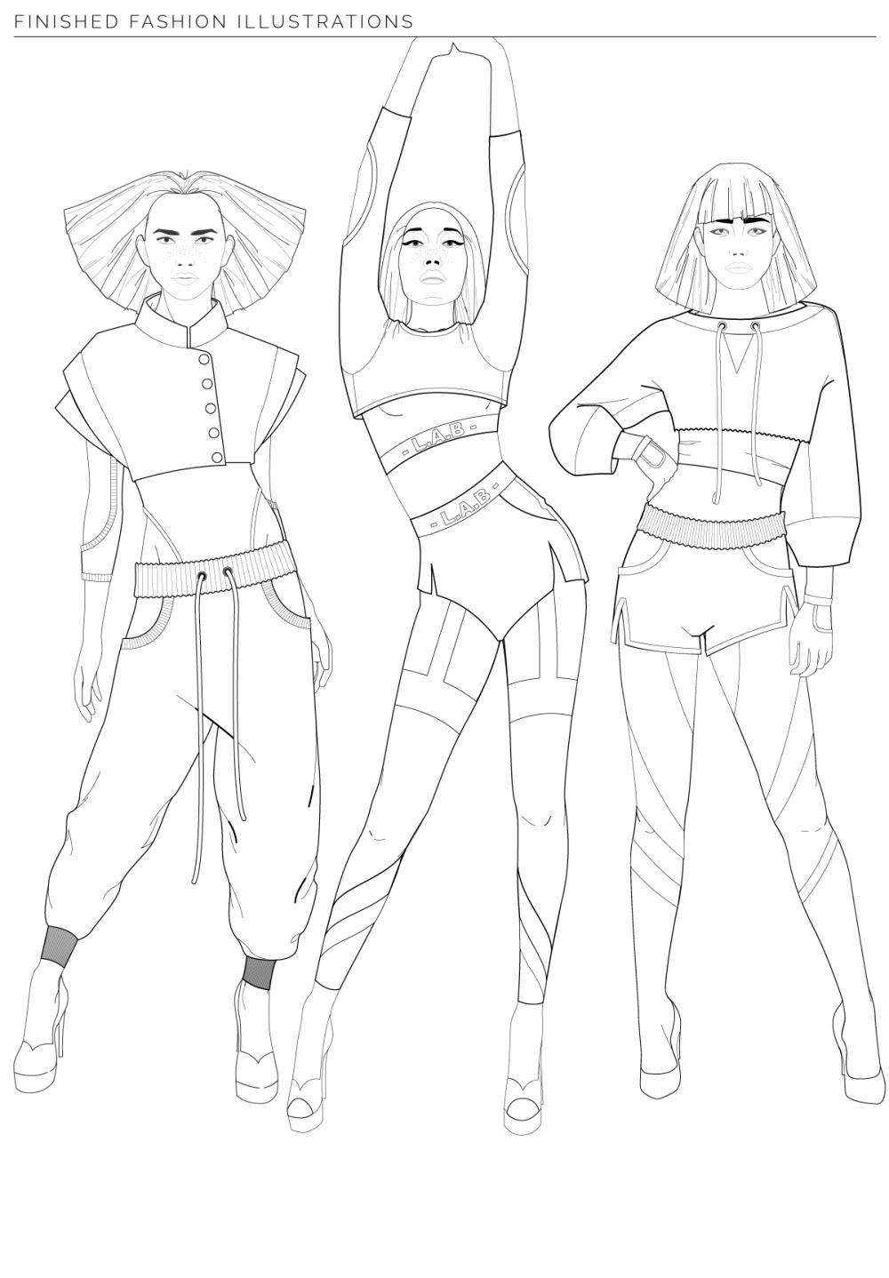 digital fashion illustration in adobe illustrator model templates pack