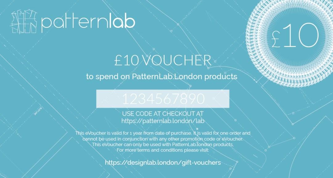 £10 patternlab gift voucher