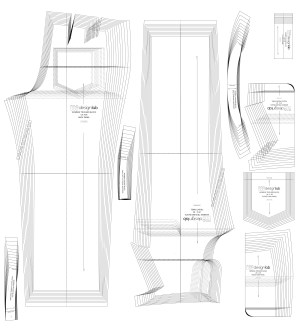 basic high waist trouser block with pockets patternlab