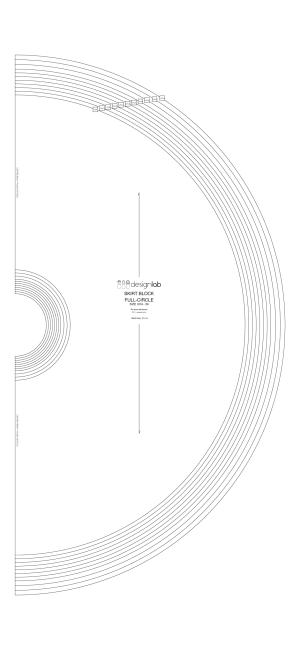 full-circle semi-circle basic skirt block DesignLab London