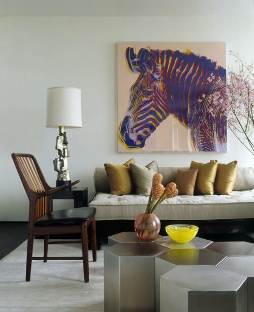 modern-living-room-zebra-print-painting