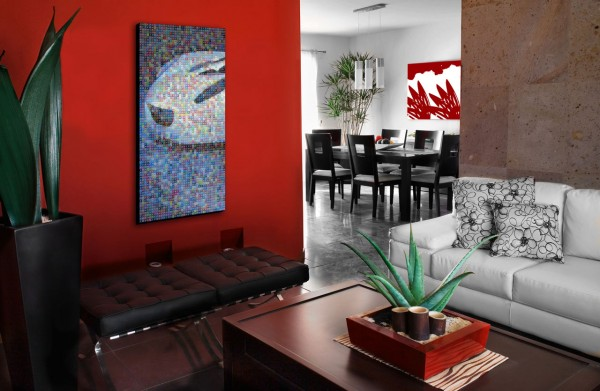 red-accent-wall-for-living-room
