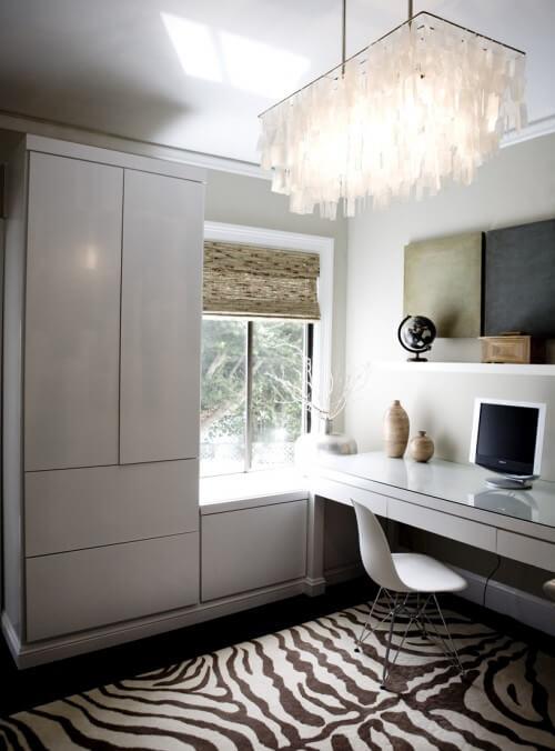 contemporary-home-office-zebra-print-rug