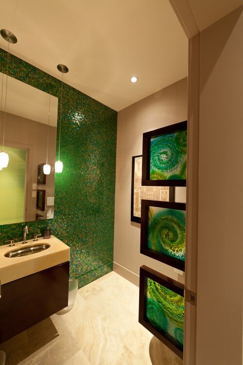 contemporary-dark-green-bathroom