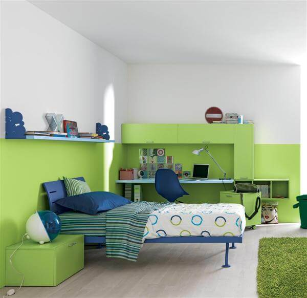 Green-Blue-Minimalist-Bedroom-Design-idea