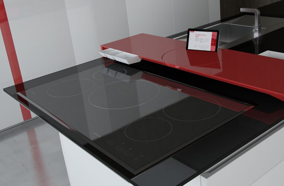 Modern-kitchen-surface-with-Samsung-Galaxy-Tablet-01