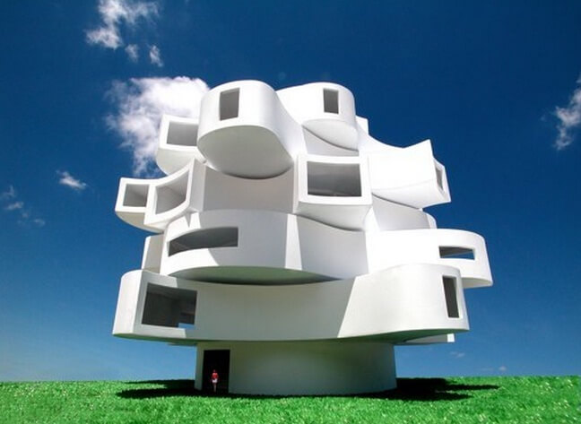 Creative-wind-shaped structure