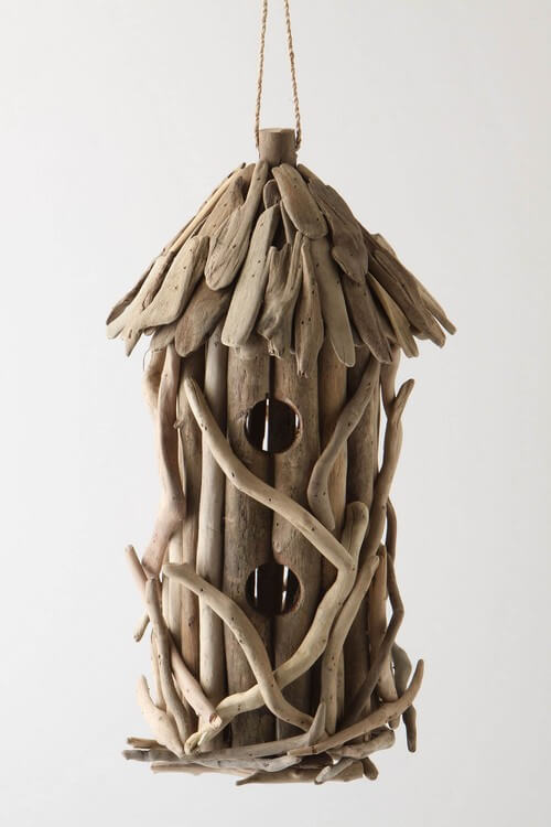Traditional-driftwood-birdhouse