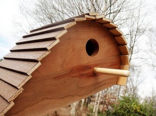 Unique-wood-birdhouse