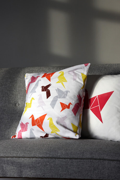 Origami-patterned-pillows