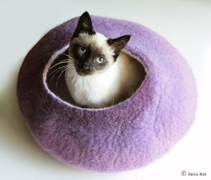 Warm-purple-cat-cocoon