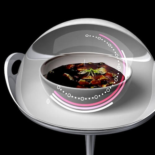 Circular-microwave-oven