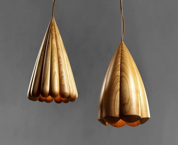 Wooden-pendant-light