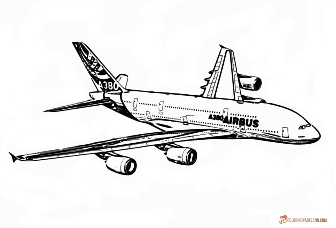 Airbus Coloring Download Airbus Coloring For Free