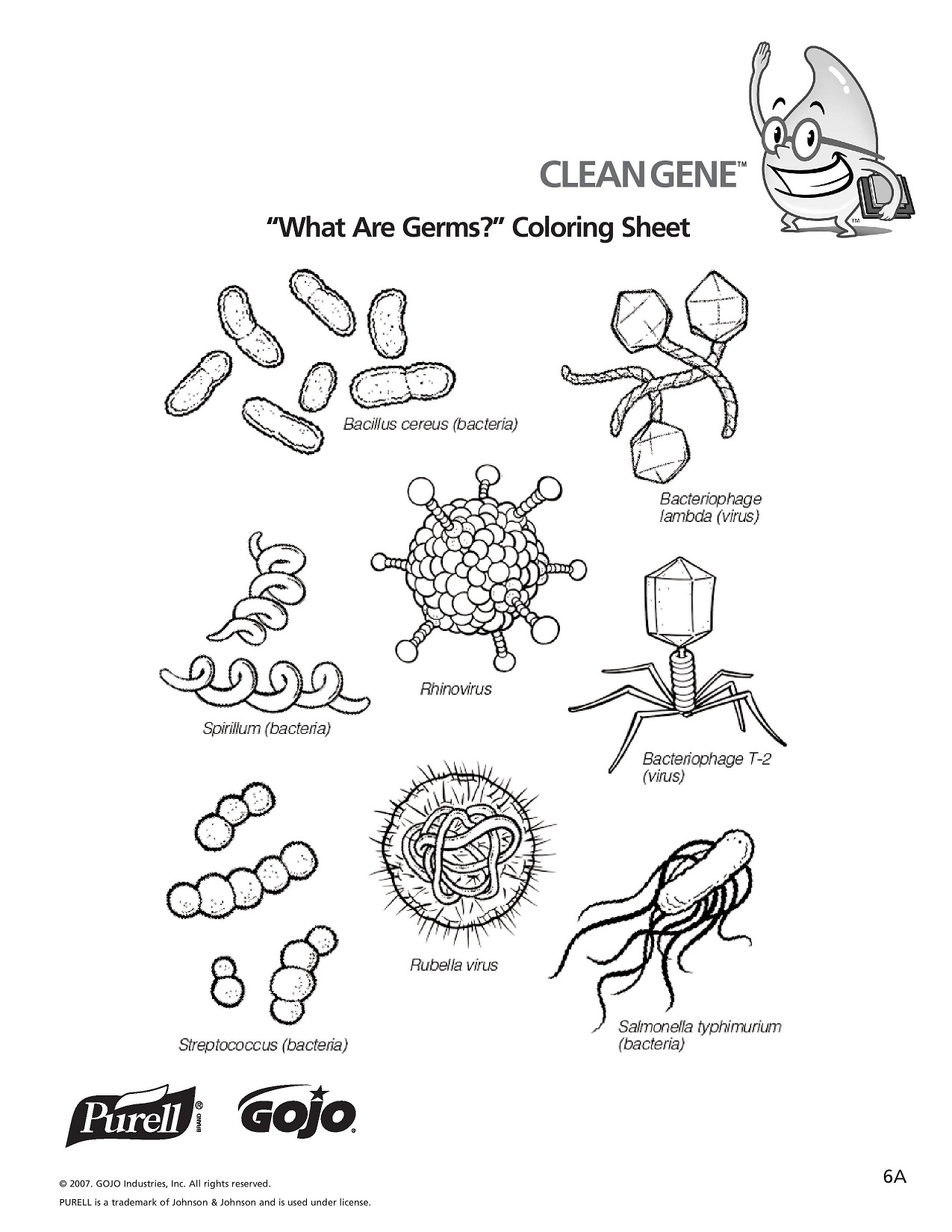 Germs Coloring Download Germs Coloring For Free