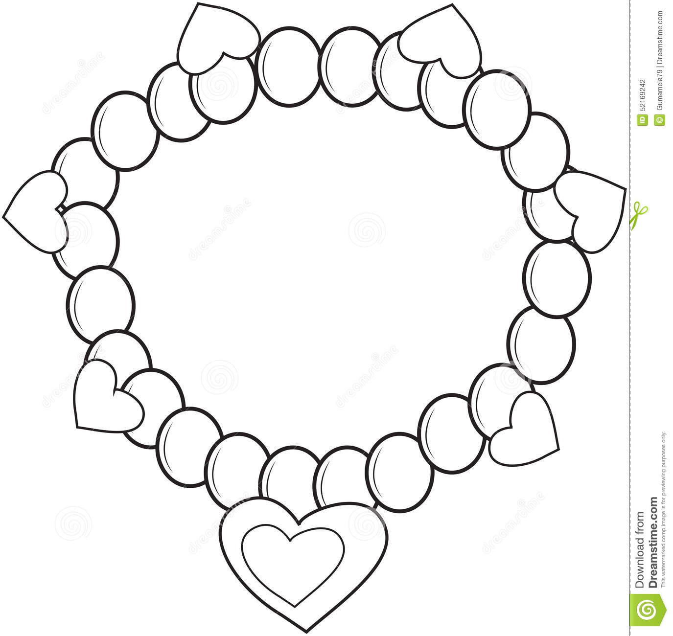 Download Bracelet Coloring For Free