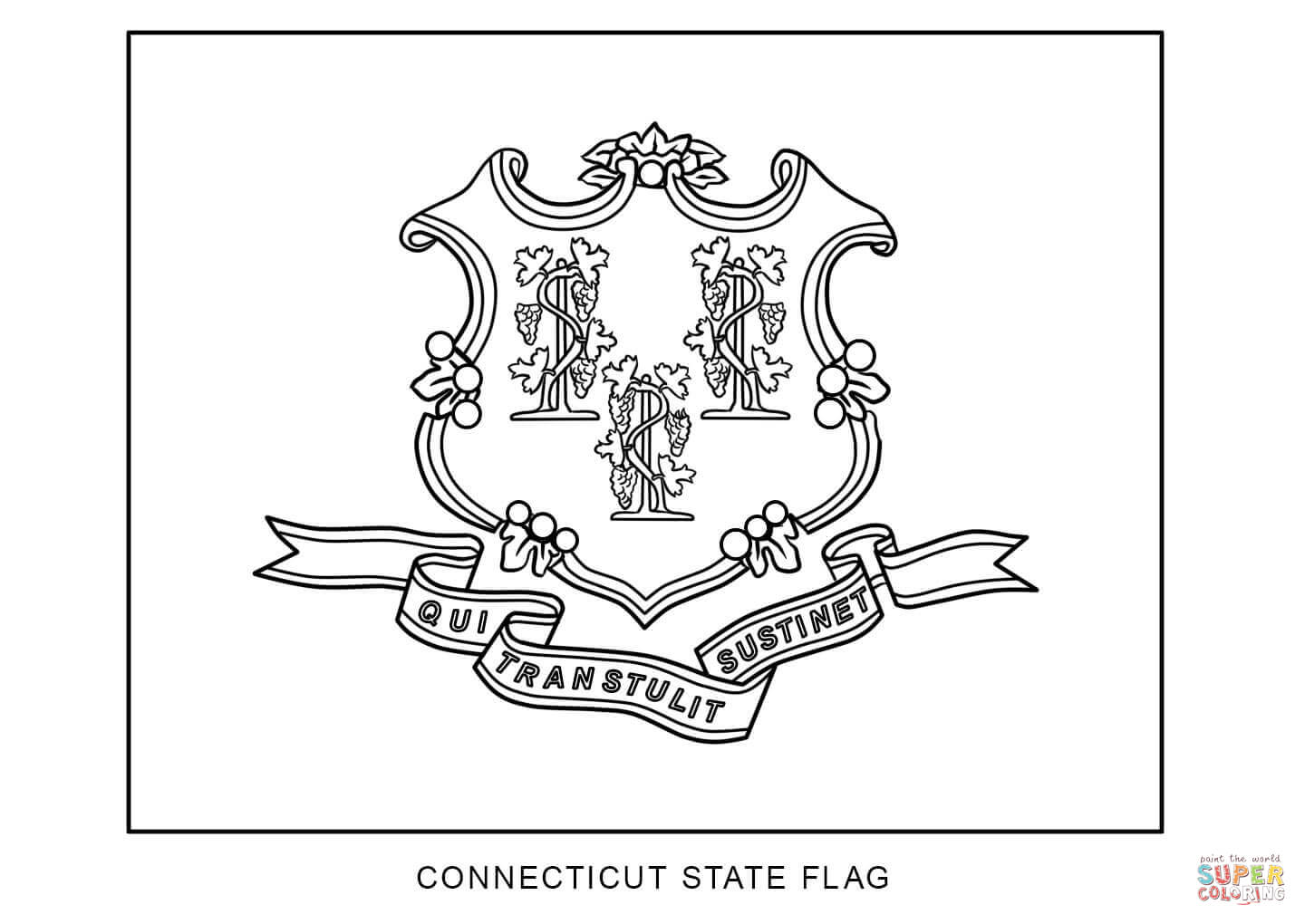 Download Connecticut Coloring For Free