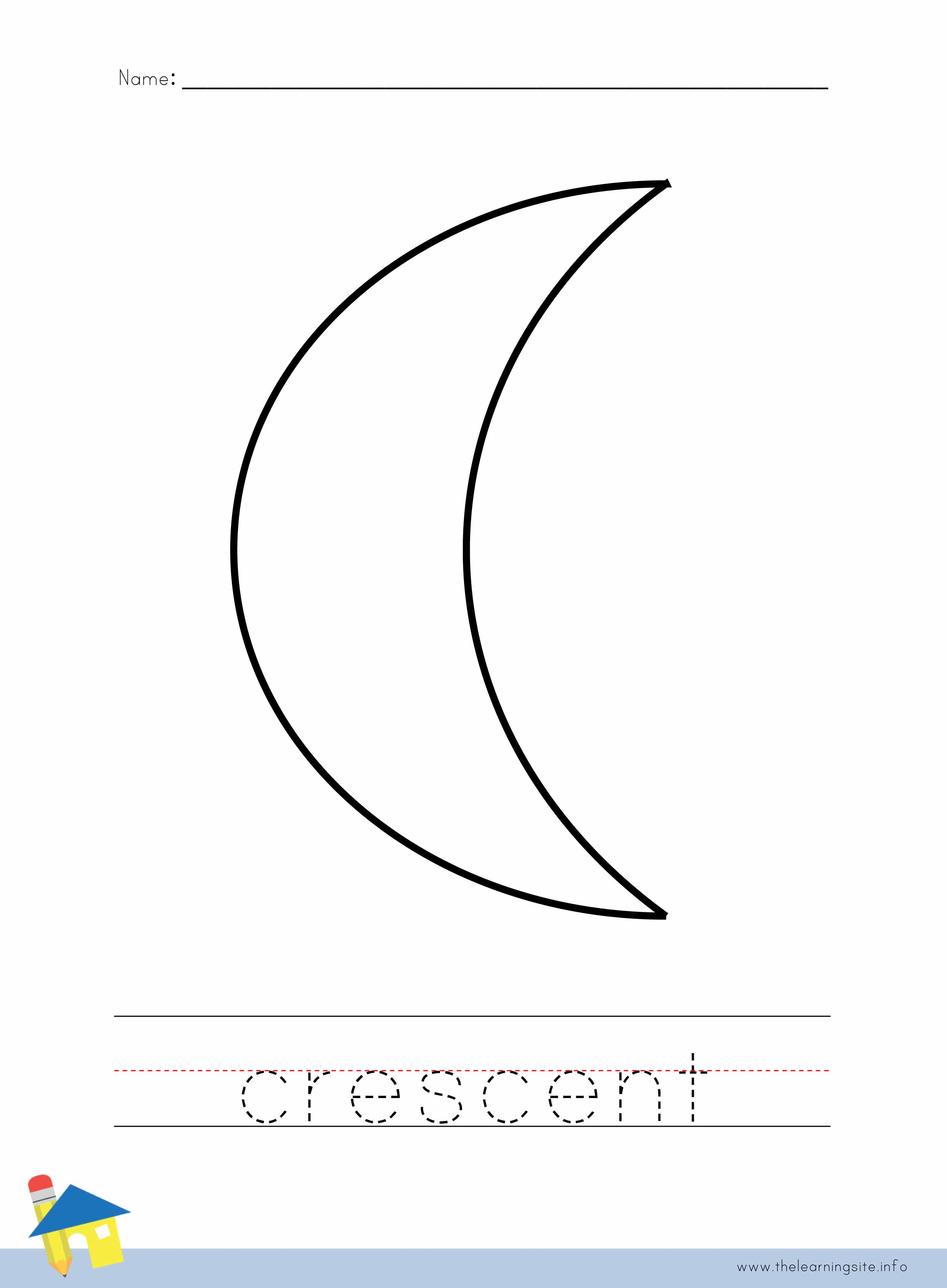 Crescent Coloring Download Crescent Coloring For Free