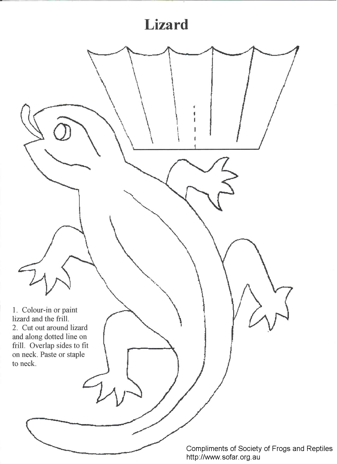 Download Frilled Neck Lizard Coloring For Free