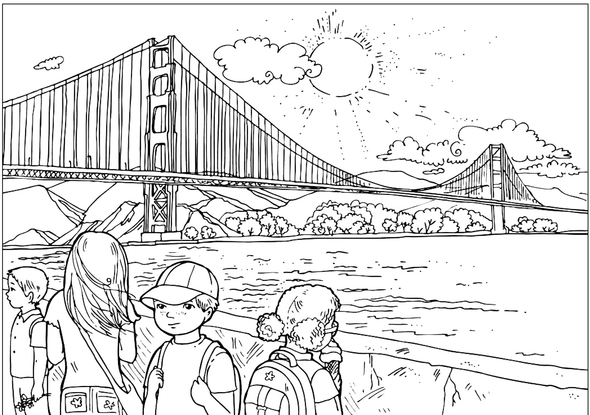 Golden Gate Coloring Download Golden Gate Coloring