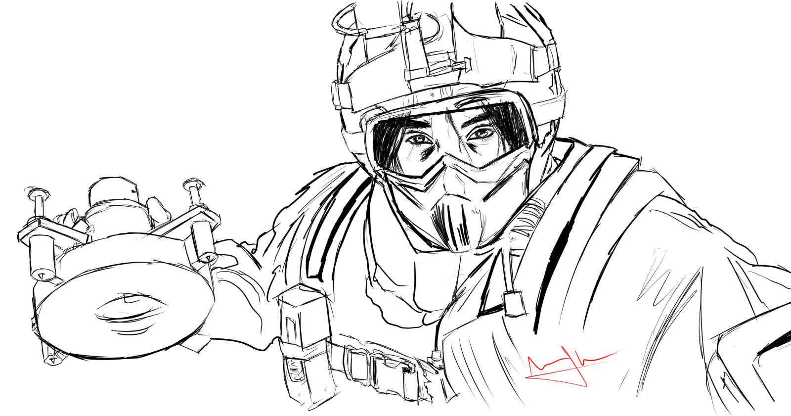 Rainbow Six Siege Coloring Pages Coloring Pages