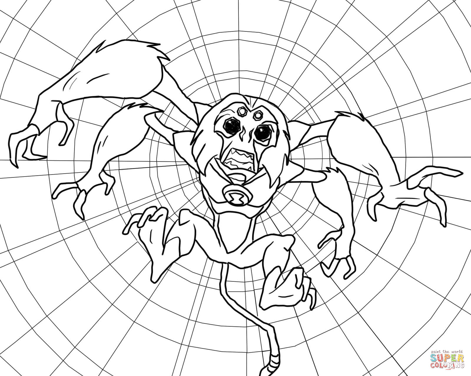 Spider Monkey Coloring Download Spider Monkey Coloring