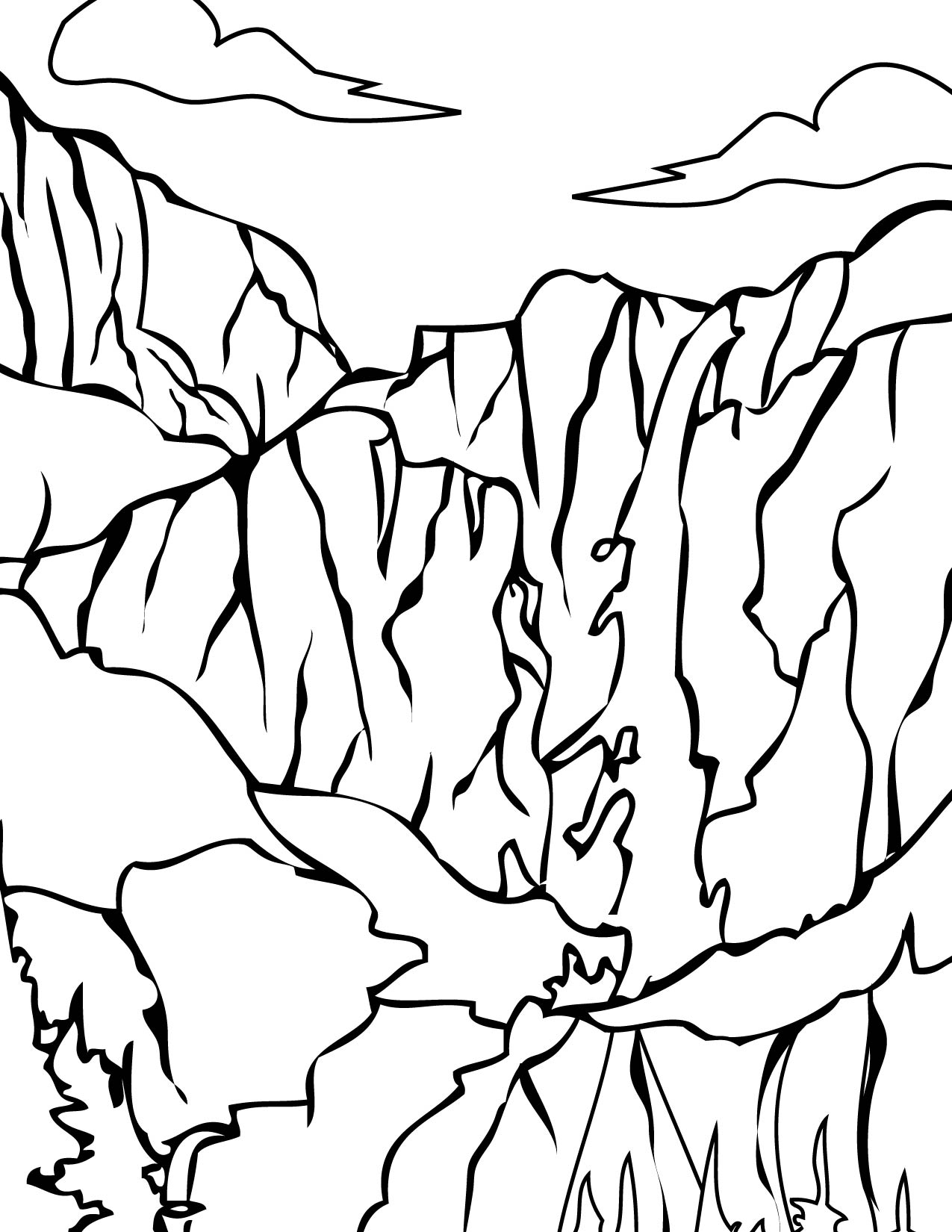 Download Yosemite National Park Coloring For Free