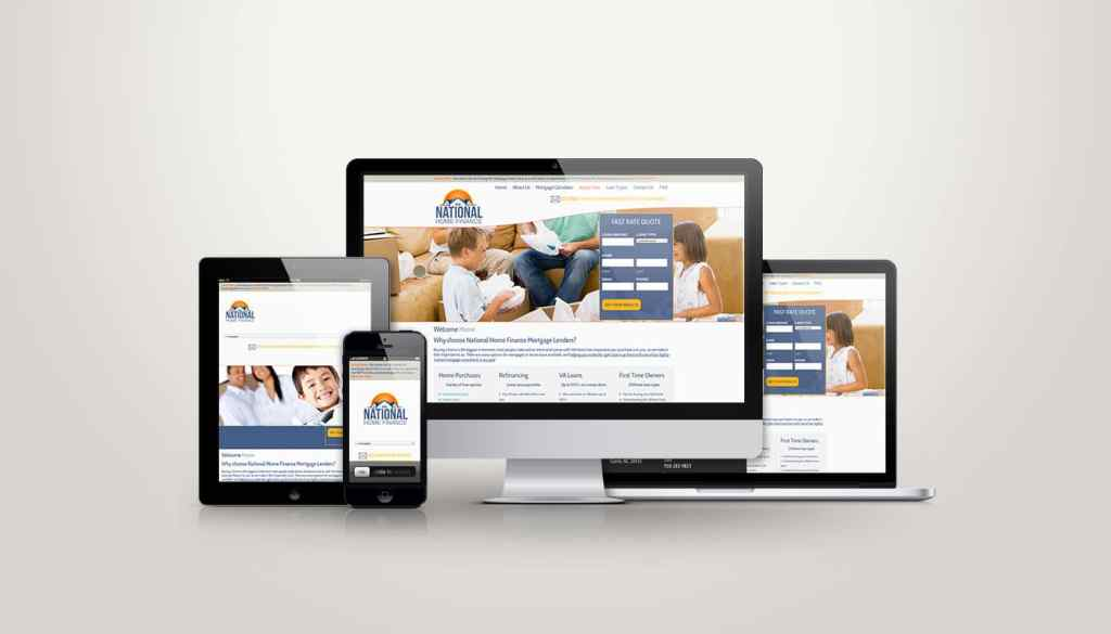 National Home Finance - Web Design