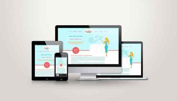 Ready Girl Events Website Design
