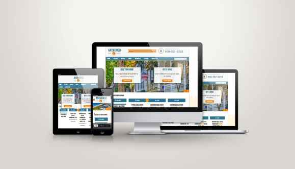 Anchored Real Estate - Web Design