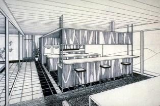 Design Luminy Case-Study-n°22-Perspective-intérieure Case Study n°22 - 1959 - Pierre Koenig (1925-2004) Histoire du design Icônes Références  Pierre Koenig Case Study n°22