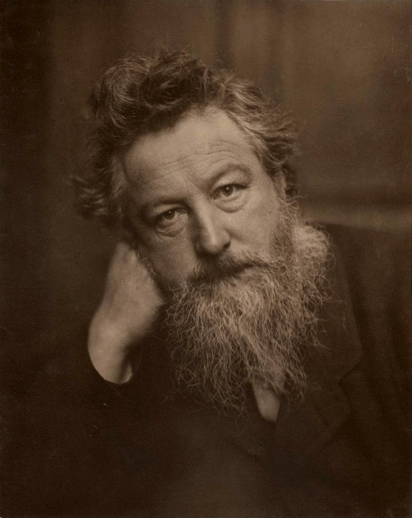 Design Luminy William-Morris-par-Frederick-Hollyer-1887-age-53 William Morris - Comment nous vivons. Comment nous pouvons vivre. Histoire du design Références Textes  William Morris Arts & Crafts   Design Marseille Enseignement Luminy Master Licence DNAP+Design DNA+Design DNSEP+Design Beaux-arts