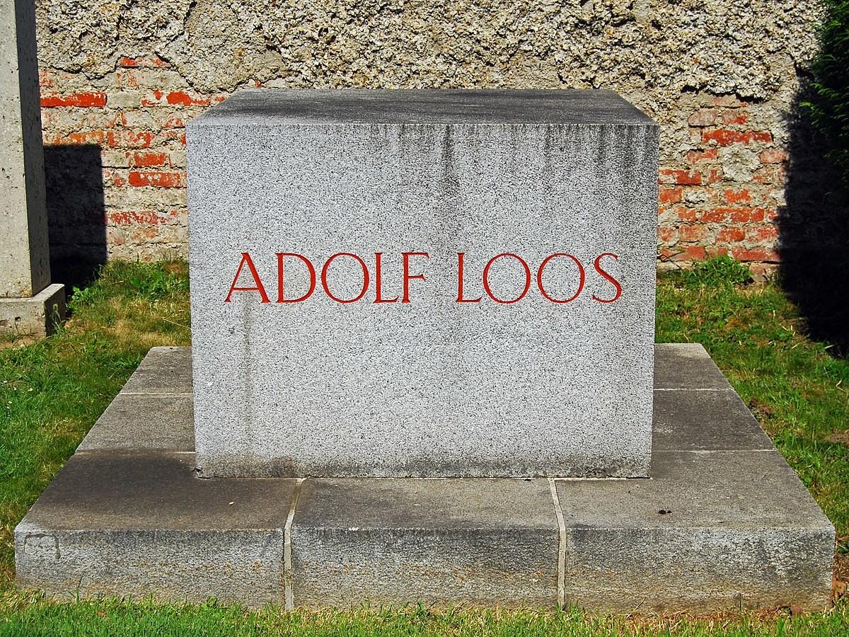 Design Luminy 1200px-Grab_Adolf_Loos Ornement et Crime - Adolf Loos - 1908 Histoire du design Références Textes  ornement Adolf Loos