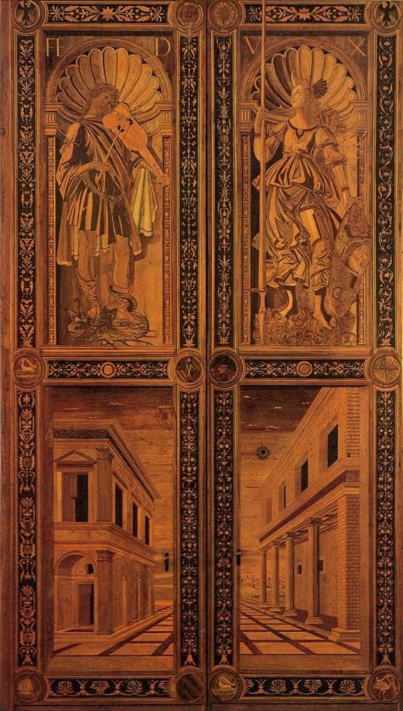 Design Luminy botticelli_111_door-1 L'intarse Histoire du design Références Textes  Marqueterie Intarse