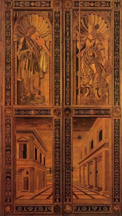 Design Luminy botticelli_111_door-1-580x1024 L'intarse Histoire du design Références Textes  Marqueterie Intarse