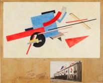 Design Luminy Lissitzky_El_1921_Proun_Street_Decoration_Design Proun Raum (1923) - El Lissitzky (1890-1941) Histoire du design Références  Proun Raum Proun El Lissitsky Constructivisme