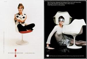 Design Luminy chaise-tulipe-saarinen-publicite1_21459926510_o Chaise Tulipe 1956 – Eero Saarinen (1910-1961) Histoire du design Icônes Références  Tulipe Knoll Eero Saarinen