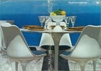 Design Luminy chaise-tulipe-saarinen-publicite6_21459999028_o Chaise Tulipe 1956 – Eero Saarinen (1910-1961) Histoire du design Icônes Références  Tulipe Knoll Eero Saarinen