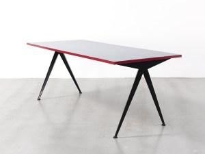 Design Luminy jean-prouve-grande-table-cafeteria-grise1-300x225 Jean Prouvé 1901–1984 – Biographie Histoire du design Icônes Références  Jean Prouvé