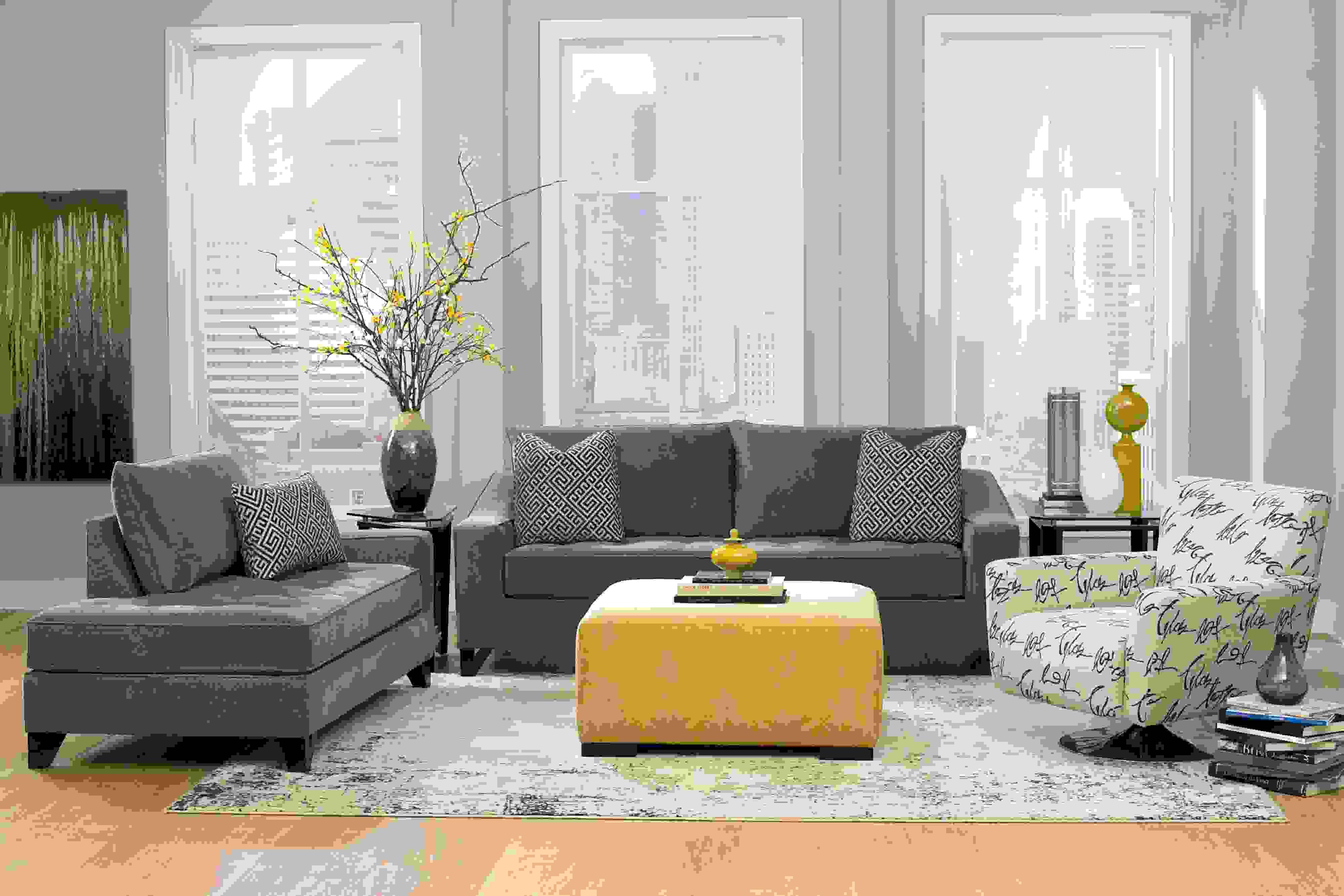 Decoration Interieur La Combinaison Gris Et Jaune Le Parfait Mariage