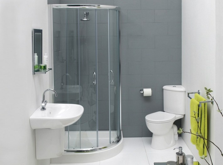 peinture salle de bains grise tendance gris évier