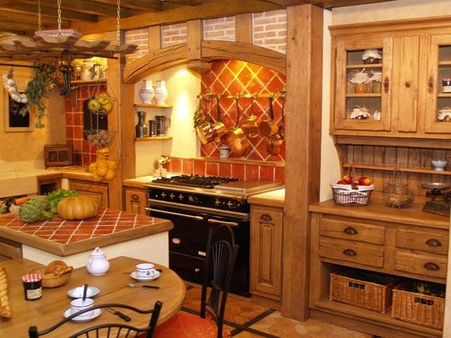 La Cuisine Campagnarde Apporte Lesprit Rustique La Maison