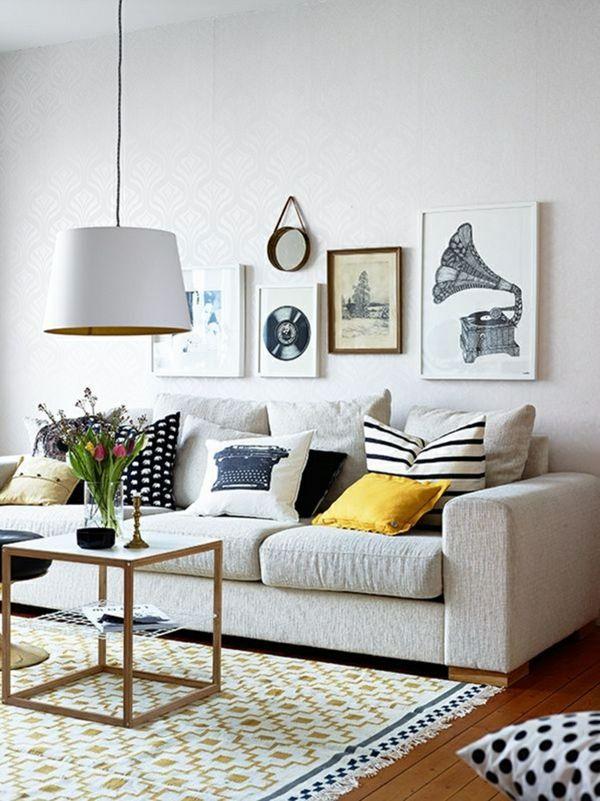 idee deco salon avec des coussins de canape